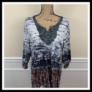 🛒Plus Size Live and Let Live Womens Tunic
